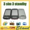 Triple SIM cards TV mobile phone C6