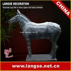 195cm Imitation bluestone war-horse sculpture