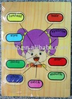 Wooden Puzzle Girl Head Parts