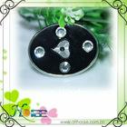 fashion plated plastic button