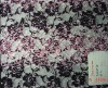 printed polyester cotton lace mesh fabric