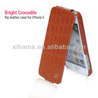 HOCO Bright Crocodile Pattern Real Leather Case For Iphone 5
