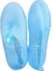 Clear aqua beach shoes for women