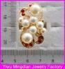 top selling alloy siam rhinestone pearl rings jewelry