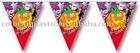 Halloween Plastic Flag Banner--( Pumpkin )