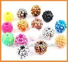 Resin acrylic shamballa bracelet beads wholesale