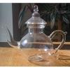 heat resistant borosilicated glass teapot