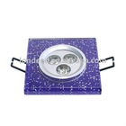 3W Square Crystal LED Ceiling Light