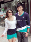 2013 unique spring dresses men's t shirt couple wear women casual soft knitted dresses