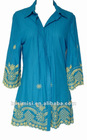 ladies' cotton dress/ fashion dress/summer dress(057)