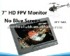 No Blue Screen TFT LCD 7 Inch for Aerial Photography