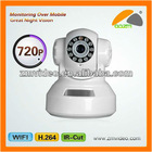Wireless Indoor Mini CCTV LED Switch IR-Cut Smart Phone Viewing IP Camera Manufacturer