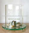 removable indoor outdoor garden ethanol fireplace glass cylinder/candle holder/hurrican glass tube