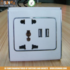 USB and multi-region wall outlet