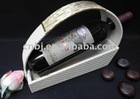 2012 New style Fashion design Faux leather__ MDF Wine bottle holder/wine cabinet