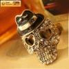 Trendy Crystal Skull Ring