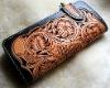 Handmade Cowhide Leather Engraved Wallet
