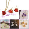 High Quality Zircon Set Jewelry,Gold Plated Copper Jewelry 00822-25