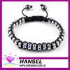 diamond pave beads macrame bracelet in china