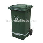 240L recycle container with rubber wheels and lid/ EN840 Certification