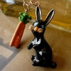 The new design retro European style rabbit with carrot necklace