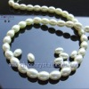 Oval imitation Pearl Beads for necklace and bracelets