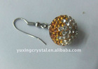 shamballa earrings , crystal pave earring , hook earrings