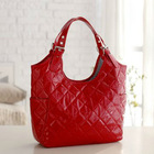 Stylish faux quilted leather diaper tote bag
