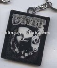 Metal key ring with epoxy cover
