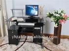 black glass computer desk design