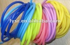 Colourful silicone rubber cord/silicone rubber pipe