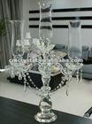 3 arms hanging drops candelabra