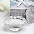 Popular Romantic Wedding Gift Crystal Tea Light Holder