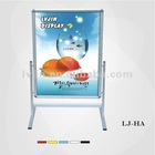 Floor standing poster frame shop stand