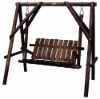 outdoor garden wooden swing chair