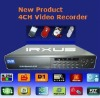 Real Time Full D1 4 Channel DVR, H.264 Compression, RT-6004V