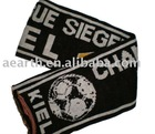 Fashion knitted scarf for men with contrast letter