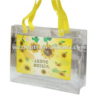 Professional design PVC handle bag with button
