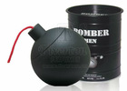 80986BBomber Black Color Iron Metal Box Packing Perfume