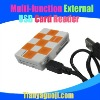 Multi-function external usb card reader