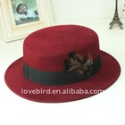 2011 Hot-sell fashion winter hat design 100% pure ladies' wool printed cap