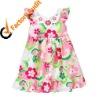 new design dress, rhinestone poplin kids one piece dress