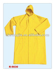 yellow long raincoat
