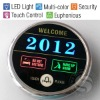 Luxury Hotel Electronic Doorplate Touch Doorbell Switch with LED Room Number Display
