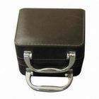 PU/PVC Jewelry box with metal handle