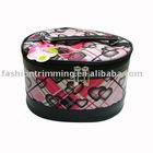 Heart/Zip Top/PVC Cosmetic Bag For Women's BP465-A
