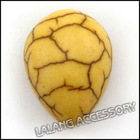 new wholesale and hot sale natural yellow howlite teardrop shape Gemstones Turquoise 110588