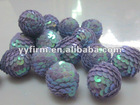 Jewelry findings 2012 Christmas decorated sequin ball beads wholesale price