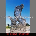 huge metal wire sculpture