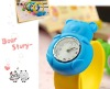 2012 hot sale silicone slap watch